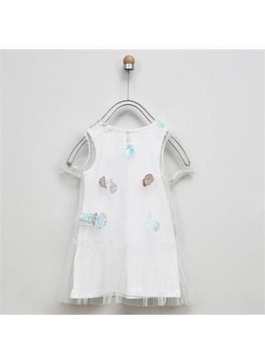 Panço Kız Çocuk Elbise 2011GK26025 Beyaz